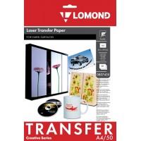 Lomond A4, 50 lapų, termopernešimo popierius lazeriniams spausdintuvams, skirtas vaizdo perkėlimui ant kietos medžiagos (Thermotransfer Laser Paper for Hard Surfaces / kodas 0807435)