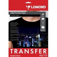 Lomond A4, 10 lapų, termopernešimo popierius rašaliniams spausdintuvams, skirtas vaizdo perkėlimui ant tamsios tekstilinės medžiagos (Thermotransfer Inkjet Paper for Dark Fabrics / kodas 0808421)