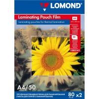Lomond A4, 80mic, 50 lapų, blizgi laminavimo plėvelė (Laminating Pouch Film Glossy / kodas: 1302141)