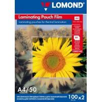 Lomond A4, 100mic, 50 lapų, blizgi laminavimo plėvelė (Laminating Pouch Film Glossy / kodas: 1302142)