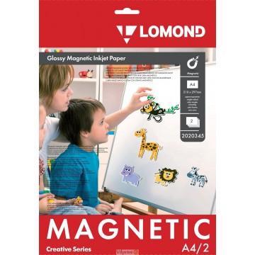 """Lomond A4, 2 lapai, """"Magnetic"""" blizgus fotopopierius su magnetiniu sluoksniu (Magnetic Inkjet Paper Glossy / kodas: 2020345)"""