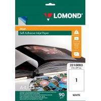 Lomond A4, 90g/m2, 25 lapai, lipnus matinis fotopopierius rašaliniam spausdintuvui (Self Adhesive Photo Paper Matte / kodas 2210003)