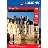 Lomond A3, 100mic, 50 lapų, skaidri plėvelė lazeriniams spausdintuvams (PET Film for b/w and color laser printers / kodas 0703315)