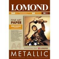 "Lomond A4, 260g/m2, 10 lapų, vienpusis pusiau blizgus ""Metallic""  fotopopierius (Fine Art Paper Gallery Metallic Semi Glossy / kodas: 0938042)"