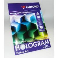 Lomond A4, 260g/m2, 10 lapų, Hologram Cube holografinis fotopopierius, raš. spausdintuvui (kodas: 0902041)