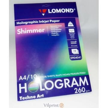 Lomond A4, 260g/m2, 10 lapų, Hologram Shimmer holografinis fotopopierius, raš. spausdintuvui (kodas: 0904041)