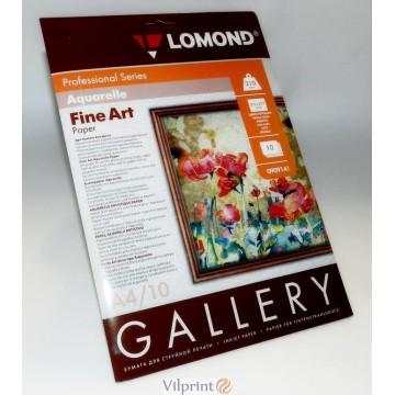 Lomond A4, 210g/m2, 10 lapų vienpusis fotopopierius, Fine Art Paper Gallery Aquarelle, raš. spausdintuvui (kodas: 0909141)