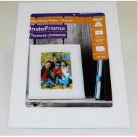 Lomond A5, baltas stovas-remelis + A5, 160g/m2, 15 lapų, vienpusis matinis fotopopierius (InstaFrame Wind+Matt Photopaper / kodas: 1401002)
