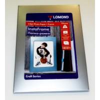 Lomond A5, sidabrinis stovas-remelis + A5, 200g/m2, 15 lapų, vienpusis blizgus fotopopierius (kodas: 1401011)