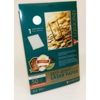 Lomond A4, 80g/m2, 50 lapų, auksinės spalvos, lipnus popierius laz. spausdintuvams (Gold Foil Self Adhesive / kodas 2620005)