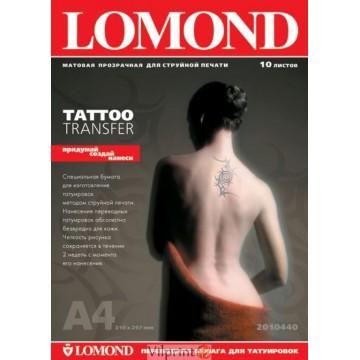 """Lomond A4, 5 lapų, """"Tatoo transfer"""" medžiaga laikinoms tatuiruotėms (Tattoo Inkjet Paper / kodas: 2010450)"""