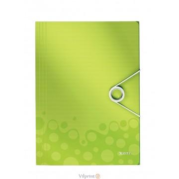 Aplankas A4, 150 l. žalias Leitz WOW 3-Flap Folder