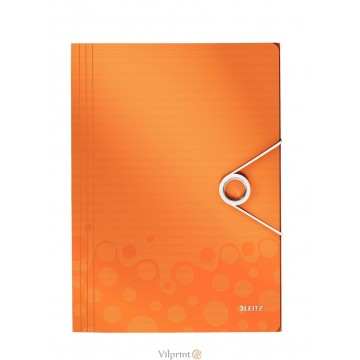 Aplankas A4, 150 l. oranžinis Leitz WOW 3-Flap Folder