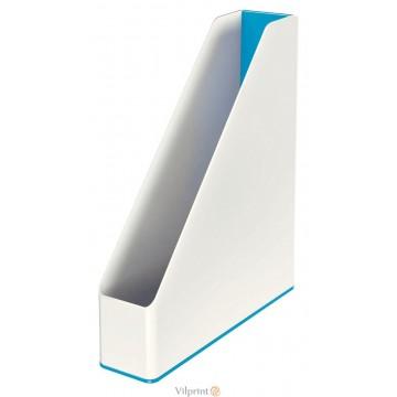 Stovas A4, Baltas/mėlynas Leitz WOW Magazine File Dual Color