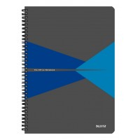 Bloknotas A4/90l. spiralė šone, su langeliais, mėlynas, Leitz Office Notebook