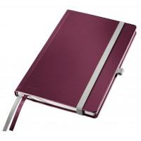 Užrašų knygelė A5/80l. su langeliais, raudona, Leitz Style Notebook