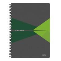 Bloknotas A4/90l. spiralė šone, su langeliais, žalias, Leitz Office Notebook