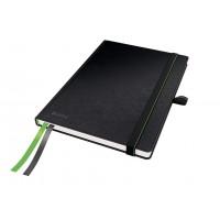 Užrašų knygelė A5/80l. su langeliais, juoda, Leitz Complete Notebook