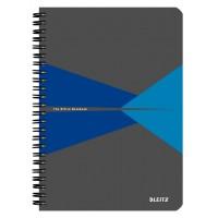 Bloknotas A5/90l. spiralė šone, su langeliais, mėlynas, Leitz Office Notebook
