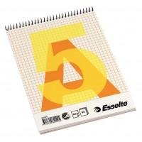 Bloknotas A5/80l. spiralė viršuje, su langeliais, Esselte Spiral Pad