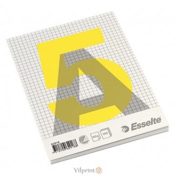Bloknotas A5/100l. klijuotas, su langeliais, Esselte Glued Pad