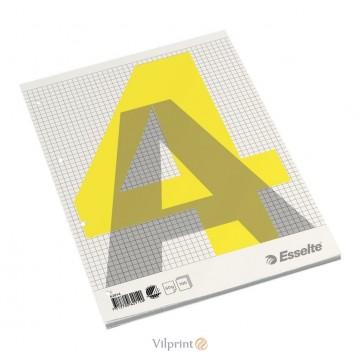 Bloknotas A4/100l. klijuotas, su langeliais, Esselte Glued Pad