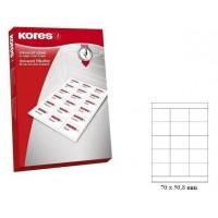 Lipnios etiketės A4, 100 lapų, 15 etikečių lape po 70x50,8 mm. Kores