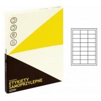 Lipnios etiketės A4, 100 lapų, 24 etiketės lape po 64,4x33,8 mm. Grand