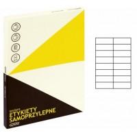 Lipnios etiketės A4, 100 lapų, 16 etikečių lape po 105x37 mm. Grand