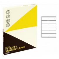 Lipnios etiketės A4, 100 lapų, 12 etikečių lape po 105x48 mm. Grand