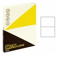 Lipnios etiketės A4, 100 lapų, 2 etiketės lape po 210x148 mm. Grand