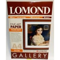 Lomond A4, 265 g/m2, 10 lapų, Velour Natural White, vienpusis veliūro tekstūros fotopopierius rašaliniams sp. (kodas: 0911141)