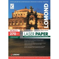 Lomond A4, 270g/m2, 150 lapų, dvipusis blizgus spec. popierius lazeriniams spausdintuvams (CLC Paper Glossy DS / 0310543)