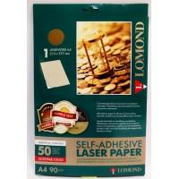 Lomond A4, 90g/m2, 50 lapų, 1 etikitė lape (210 x 297mm) pasenusio aukso spalvos, lipnus popierius lazeriniams sp. (2630005)