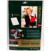 Lomond A4, 85g/m2, 50 lapų, pusiau blizgus, lipnus popierius laz. sp. (CLC Paper, Semi Glossy , Self Adhesive / kodas 2600052)
