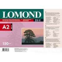 Lomond A2, 150g/m2, 25 lapų, venpusis blizgus fotopopierius rašaliniams sp. (Single Sided Glossy Inkjet Photopaper / 0102040)