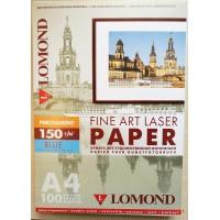 Lomond A4, 150g/m2, 100 lapų, Perhament Blue, dvipusis melsvo pergamento tekstūros spec. popierius laz. sp. (kodas: 0914044)