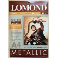 "Lomond A3+, 260g/m2, 10 lapų, vienpusis pusiau blizgus ""Metallic"" fotopopierius (Fine Art Paper Gallery Metallic Semi Glossy / kodas: 0938022)"