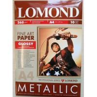 "Lomond A3+, 260g/m2, 10 lapų, vienpusis blizgus ""Metallic"" fotopopierius (Fine Art Paper Gallery Metallic Glossy / kodas: 0939022)"