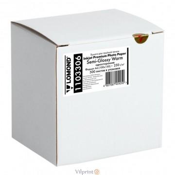Lomond A6, 250g/m2, 500 lapų, vienpusis pusiau blizgus fotopopierius (Single Sided Premium Semi Glossy Inkjet Photopaper / kodas: 1103306)