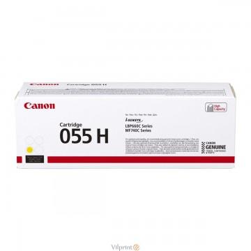 Canon 055H (Yellow / Geltona) tonerio kasetė, 5900 psl.