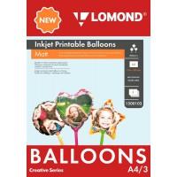 Lomond A4, 3 vnt/įpak, oro balionai kūrybai, matinis paviršius, dvipusis (Lomond Inkjet Printable Baloons A4, 3pcs / kodas: 1500103)