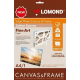 Lomond A4, 300g/m2 Natūrali satino matiškumo lininė drobė, 1 lapas su porėmiu (komplektas),  (Lomond Inkjet Photo Canvas & Frame Set / kodas: 1500118)
