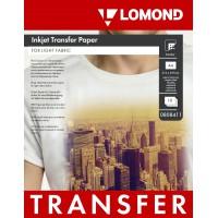 Lomond A4, 10 lapų, termopernešimo popierius rašaliniams spausdintuvams, skirtas vaizdo perkėlimui ant šviesios tekstilinės medžiagos (Thermotransfer Inkjet Paper for Light Fabrics / kodas 0808411)