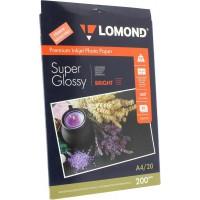 "Lomond A4, 200g/m2, 20 lapų, ""Premium"" vienpusis šviesus itin blizgus fotopopierius (Premium Photo Inkjet Paper Super Glossy Bright / kodas: 1101112)"