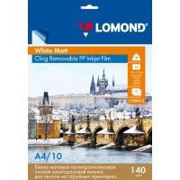Lomond A4, 140 g/m2, 10 lapų, PP balta vienpusė lengvai klijuojama nusiklijuojama plėvelė rašaliniams spausdintuvams (kodas 1708412)