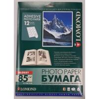 Lomond lipnus, blizgaus 85 g/m2 fotopopieriaus 12 (apskritimo formos, 60mm skersmuo) lipdukai A4 lape (kodas: 2411113)