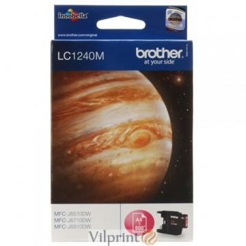 Brother LC-1240M (Purpurinė / Magenta) rašalinė kasetė, 600 psl.
